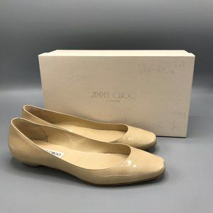 Jimmy Choo Finlay Patent Leather in Nude